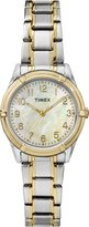 Timex Women's TW2P76100GP Classics Mother of Pearl Dial with Two-Tone Stainless Steel Bracelet Watch