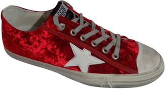 Golden Goose Superstar Red Cloth Trainers