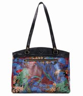 Patricia Nash Blue Forest Collection Poppy Top-Zip Tote