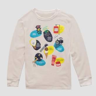 Fifth Sun Kids' Inventors Long Sleeve T-Shirt - Cream