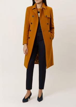 Hobbs Eleanora Wool Blend Trench Coat