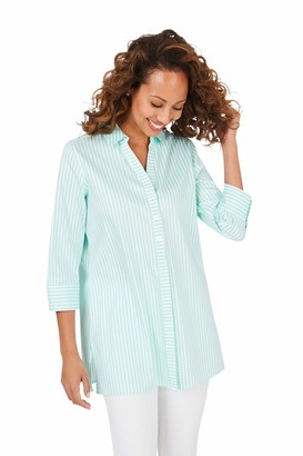 Foxcroft Women's Pamela Stretch Non-Iron Day Stripe Tunic