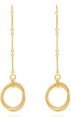 Joelle Gagnard Kharrat - Equilibriste Gold-plated Oval Drop Earrings - Womens - Gold