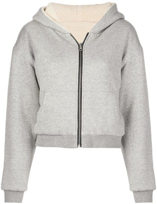 John Elliott Reversible Fleece-Lined Zip Hoodie