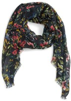 Sole Society Women's Wild Floral Scarf