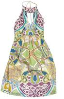Nicole Miller MultiColor Silk Halter Dress