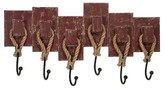 Aurora Distressed Wall Hooks - Red