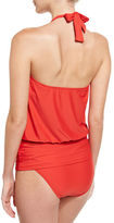 Athena Cabana Solids Cailyn Halter Tankini Swim Top, Persimmon