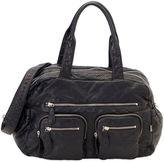 OiOi Faux Lizard Carry-All Diaper Bag in Black