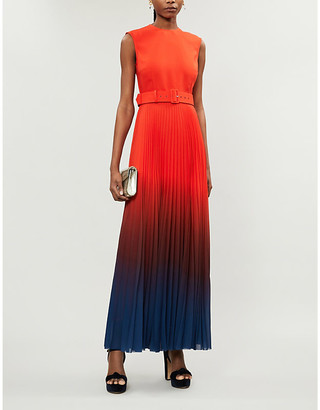 SOLACE London Willow dip-dyed woven gown