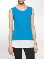 Calvin Klein Textured V-Neck Sleeveless Top