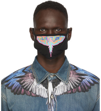 Marcelo Burlon County of Milan Black Psychedelic Wings Face Mask