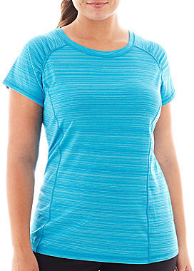 JCPenney Xersion Short-Sleeve Barcode Tee - Plus