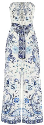 Camilla Embellished printed silk jumpsuit