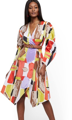 New York & Co. Dramatic Wrap Dress