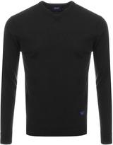 Giorgio Armani Jeans Knitted V Neck Jumper Black