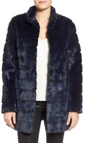 Laundry by Shelli Segal Petite Women's Grooved Faux Fur Coat