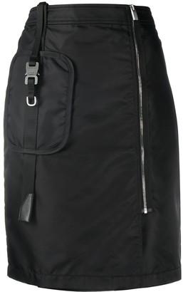 Alyx High-Waisted Zip-Up Skirt