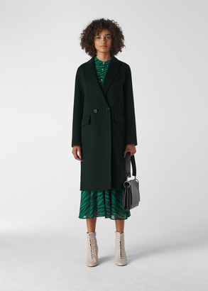 Double Faced Short Wool Coat