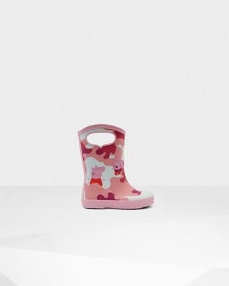 Hunter Original Kids First Peppa Pig Grab Handle Rain Boots