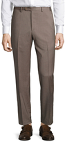 Zanella Devon Checkered Flat Front Trousers