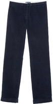 Petit Bateau Women's straight cut pants in stretch ribbed velvet