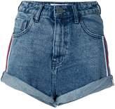 One Teaspoon stripe detail high waisted shorts