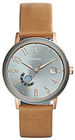 Fossil Vintage Muse Analog, Day & Date Leather-Strap Watch
