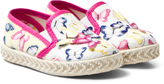 MonnaLisa White Butterfly Print and Applique Espadrilles