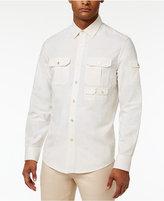 Sean John Men's Big & Tall Long-Sleeve Linen Flight Shirt