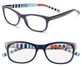 Kate Spade Women's Letti 51Mm Reading Glasses - Navy Stripe