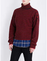 Lanvin Striped wool-blend jumper