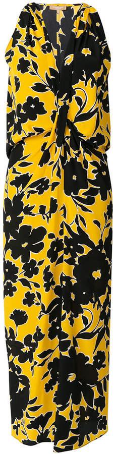 Michael Kors floral print v-neck dress