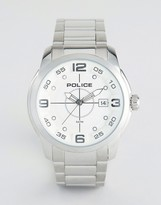 Police Sniper Stainless Steel Bracelet With Silver Dial