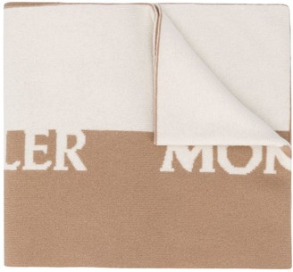 Moncler Logo Print Scarf