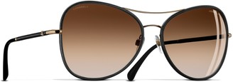 Chanel Pilot Sunglasses CH4227Q Black/Gold