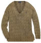 Polo Ralph Lauren Cable Cotton VNeck Sweater