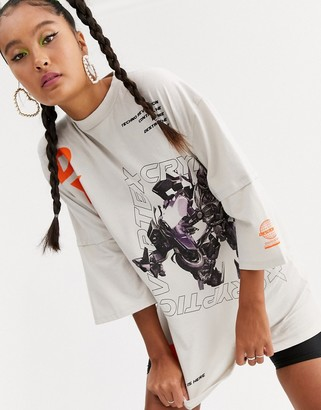Jaded London oversized t-shirt with dystopia graphic