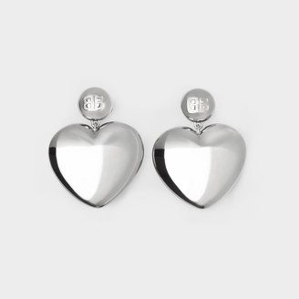 Balenciaga Susi S Earrings In Silver Copper And Brass