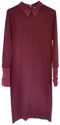 Clements Ribeiro Burgundy Wool Dress for Women