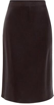 Joseph Isaak Silk-satin Slip Skirt - Black