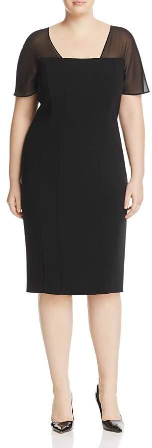 Marina Rinaldi Detroit Sheer-Yoke Dress