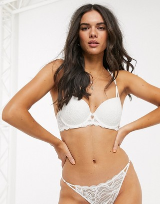 Dorina Mica recycled lace t-shirt bra in ivory