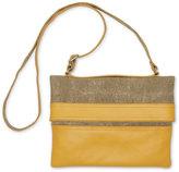 Toms Khaki Woven Texture Mix Jaunt Crossbody Bag