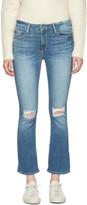 Frame Blue Le Crop Mini Boot Jeans