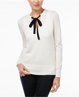 MICHAEL Michael Kors Embellished Tie-Neck Sweater