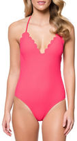 Jessica Simpson Under the Sea One-Piece Halter Maillot