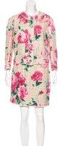 Dolce & Gabbana Floral Print Mini Skirt Suit