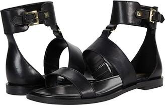 MICHAEL Michael Kors Amos Flat Sandal (Black) Women's Shoes