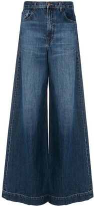 J Brand Wide-Leg Flared Jeans